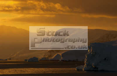 antarctic coast mist sunset antarctica polar natural history nature misc. south pole cold ice antarctican