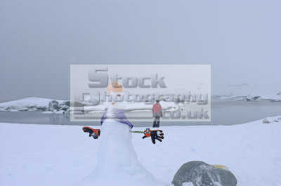 snowman antarctica polar natural history nature misc. snow cold fun antarctican