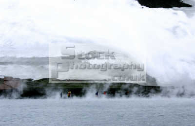 walking icy antarctic landscape polar natural history nature misc. south pole cold ice steam mist antarctica antarctican