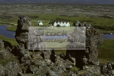 thingvellir plain national assembly althing established ad 930. river oxara old parsonage church iceland geology geological science misc. arctic icelandic
