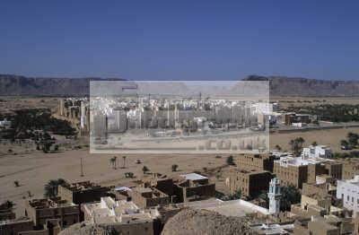 shibam wadi hadramaut yemen. mud brick skyscraper houses city walls. african archeology archeological travel yemen africa yemeni