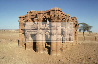 kiosk known temple naqa sudan. kingdom kush african archeology archeological travel ancient history historical sudan africa sudanese