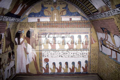 paintings tomb sinjim chief artist ramesis ii thebes dier el medina luxor egypt african archeology archeological travel ancient history historical egyptian