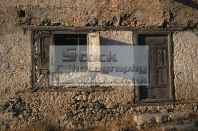 old turkish house near oludiniz south west turkey western med coast middle east travel window door stone