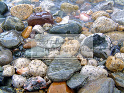 varied multi-coloured multi coloured multicoloured assembly stones contribute natural sand- bar lochranza arran textures patterns abstracts misc. colours tranquil peaceful coastal water lapping gentle scotland scottish scotch scots escocia schottland united kingdom british