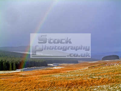 rainbow stormy january day water ken countryside rural environmental uk dream crock gold vision eye-catching eye catching eyecatching magic winter bright colours imagination refraction light natural nature mystical image scotland scottish scotch scots escocia schottland united kingdom british
