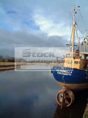 fishing boat lies berth nith estuary boats marine misc. quay river propellor maritime sea sail nets scotland scottish scotch scots escocia schottland united kingdom british