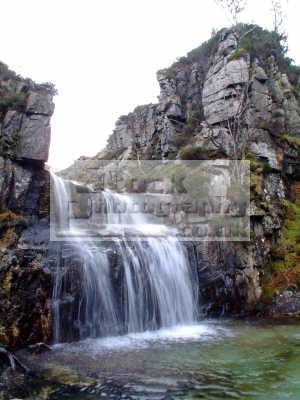 waterfall near nature reserve glen catacol north arran scotland waterfalls cascade cataracts geology geological science misc. cataract water isle highlands islands scottish scotch scots escocia schottland united kingdom british