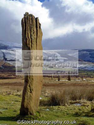 standing stone circle machrie moor arran. stands nearly feet tall left upright archeology archeological science misc. myths legend fantasy isle arran highlands islands scotland scottish scotch scots escocia schottland united kingdom british