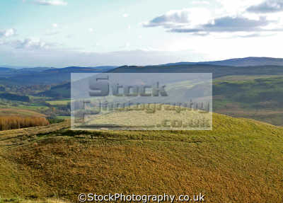 view castle hill fort dalwhat glen moniaive. iron age defensive structure 1000bc. archeology archeological science misc. ayrshire scotland scottish scotch scots escocia schottland united kingdom british