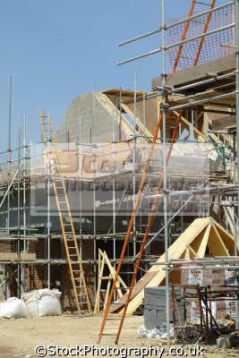 construction site scaffolding ladders building industry industrial uk business commerce buckinghamshire bucks england english angleterre inghilterra inglaterra united kingdom british