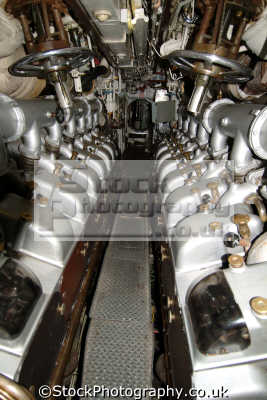 engine room hms ocelot diesel powered submarine warships royal navy naval navies uk military militaries chatham docks medway kent england english angleterre inghilterra inglaterra united kingdom british
