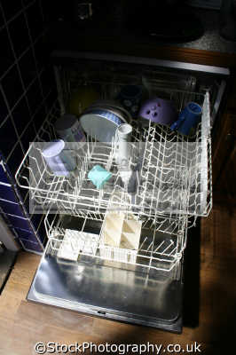 dishwasher door open kitchens cooking interiors inside british housing houses homes dwellings abode architecture architectural buildings uk domestic united kingdom