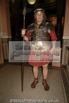 man dressed roman soldier costumes costumed people persons centurian chester cestrian cheshire england english angleterre inghilterra inglaterra united kingdom british