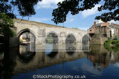 durham elvet bridge river wear reflection uk bridges rivers waterways countryside rural environmental england english angleterre inghilterra inglaterra united kingdom british