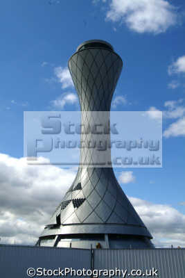 edinburgh futuristic control tower airport uk airports aviation airfield aircraft transport transportation air traffic central scotland scottish scotch scots escocia schottland great britain united kingdom british