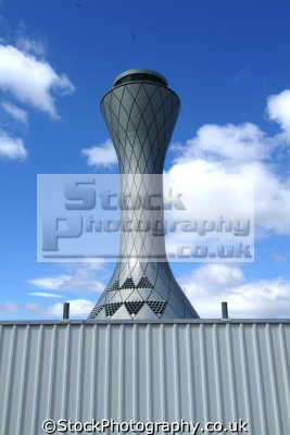 edinburgh futuristic control tower airport uk airports aviation airfield aircraft transport transportation air traffic midlothian central scotland scottish scotch scots escocia schottland great britain united kingdom british