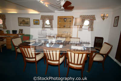 royal yacht britannia dining room boats marine misc. ocean terminal leith edinburgh midlothian central scotland scottish scotch scots escocia schottland great britain united kingdom british