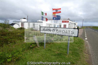 john groats signpost uk towns environmental highlands islands scotland scottish scotch scots escocia schottland great britain united kingdom british