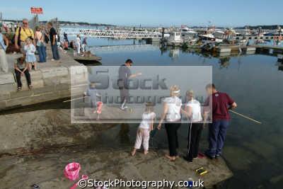poole harbour fishing crabs quay harbor uk coastline coastal environmental dorset england english great britain united kingdom british