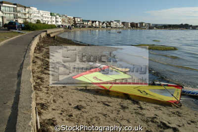 sandbanks poole harbour. famous widsurfing expensive property uk extreme sports adrenaline sporting dorset england english great britain united kingdom british
