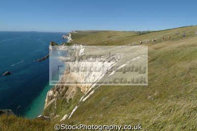 dorset coastal path durdle door uk coastline environmental walkers hikers rambling england english great britain united kingdom british
