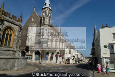 dorchester high street uk towns environmental dorset england english great britain united kingdom british