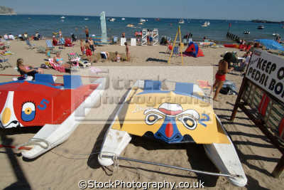 swanage beach pedaloes british beaches coastal coastline shoreline uk environmental purbeck dorset england english great britain united kingdom