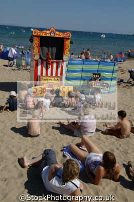 punch judy british beaches coastal coastline shoreline uk environmental swanage purbeck dorset england english great britain united kingdom