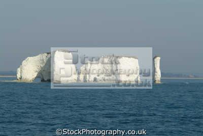 old harry handfast point uk coastline coastal environmental chalk sea stack swanage purbeck dorset england english great britain united kingdom british