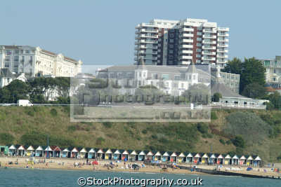 bournemouth seafront beach bathing huts uk coastline coastal environmental dorset england english great britain united kingdom british