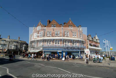swanage street scene uk towns environmental purbeck dorset england english great britain united kingdom british