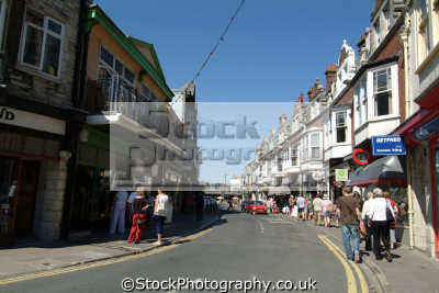 swanage high street uk towns environmental purbeck dorset england english great britain united kingdom british