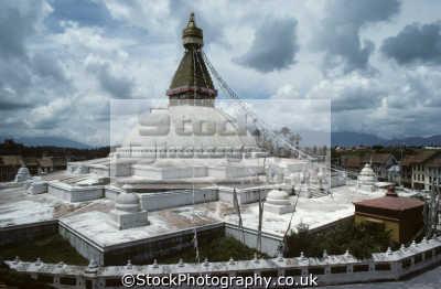 boudhnath stupa kathmandu nepal himalayas. largest stupas world octagonal mandala design asia asian travel religious religion nepalese