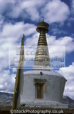 buddhist stupa shey near leh ladakh india. asia. old capital indian asian travel buddhism religion india asia