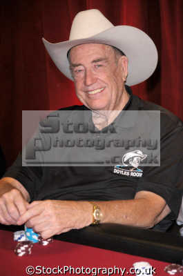 doyle brunson world poker champion 2005 pictured london england celebrities celebrity fame famous star people persons gambling gambler white caucasian portraits united kingdom british