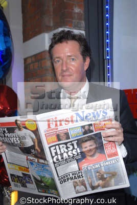 piers morgan journalist tv celebrity celebrities fame famous star people persons editor sun disgraced white caucasian portraits united kingdom british