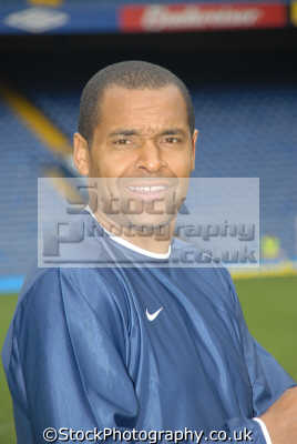 mark bright bbc london sport presenter. crystal palace goalscorer striker footballers players soccer football sporting celebrities celebrity fame famous star people persons mixed race ethnic portraits united kingdom british
