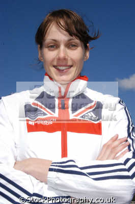 kelly sotherton british athelete won heptathlon gold commonwealth games athletes athletics sport sporting celebrities celebrity fame famous star people persons union jack flag white caucasian portraits united kingdom
