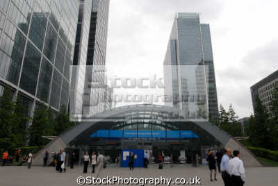 canary wharf station west plaza london england. tube underground metro buildings architecture capital england english uk tower hamlets cockney great britain united kingdom british
