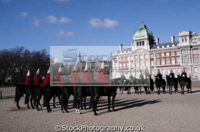 household cavalry horse guards parade london england. markets famous sights capital england english uk regimental ceremony westminster cockney great britain united kingdom british