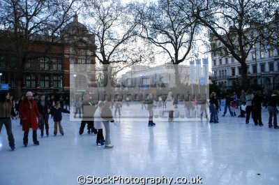 ice skating natural history museum museums galleries buildings architecture london capital england english uk skaters westminster cockney great britain united kingdom british
