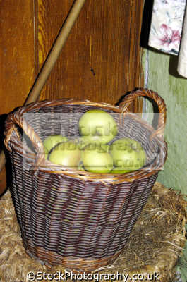 bunratty folk park limerick abstracts misc. basket apples luimneach republic ireland eire irish irland irlanda europe european