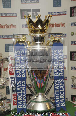 english premiership football trophy soccer sports sporting uk silverware champions winners england great britain united kingdom british