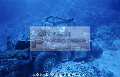 toyota truck deck blue belt wreck shab suadi reef 2399 gross tons. sunk december 5th 1978 sudanese red sea. indian ocean wrecks seascapes scenery scenic underwater marine diving car accident mangled sudan africa