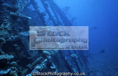 superstructure umbria wreck port sudan wingate reefs sudanese red sea. indian ocean. wrecks seascapes scenery scenic underwater marine diving africa