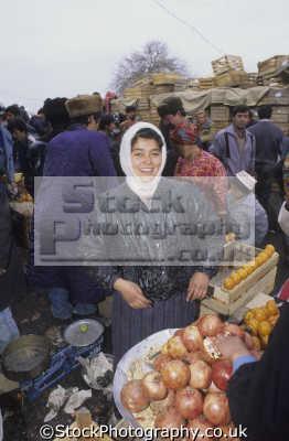 woman fruit seller kolhoznaya covered bazaar samarkand uzbekistan indiginous people asian travel asia uzbekistani