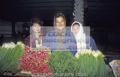 women vegetable sellers kolhoznaya covered bazaar samarkand uzbekistan indiginous people asian travel asia uzbekistani