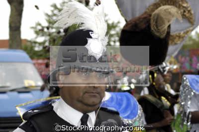asian policeman notting hill carnival london events capital england english uk ethnic minority kensington chelsea cockney great britain united kingdom british
