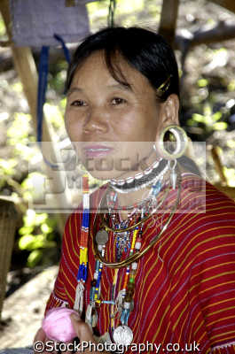 jewelled woman paduang hill tribe people thailand long neck indiginous asian travel asia thai